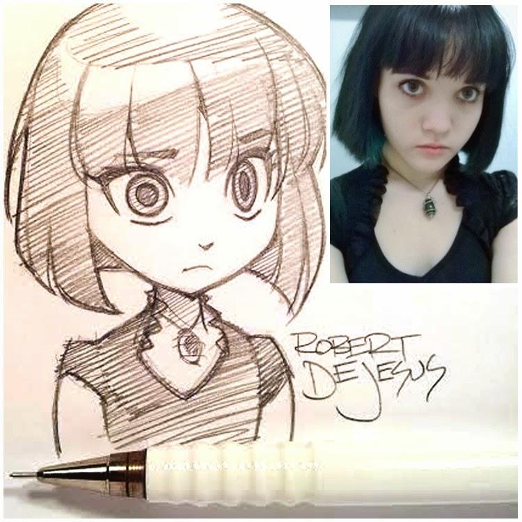 Personas convertidas en graciosos dibujos estilo anime ...