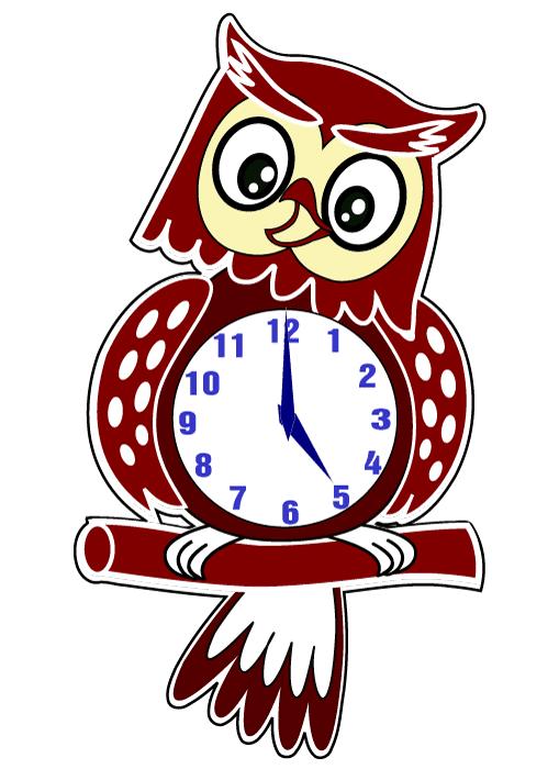 Reloj Búho - vector