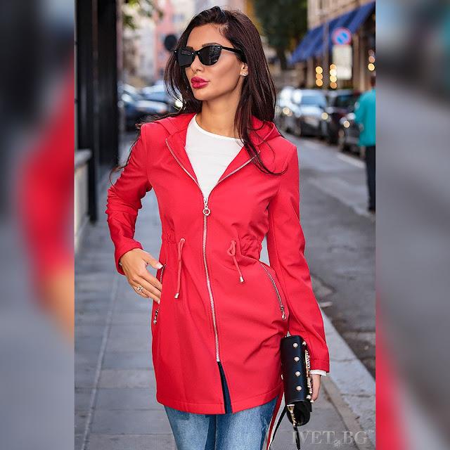 Γυναικείο κόκκινο μπουφάν ESMA RED