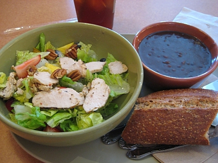 Panera salad and soup