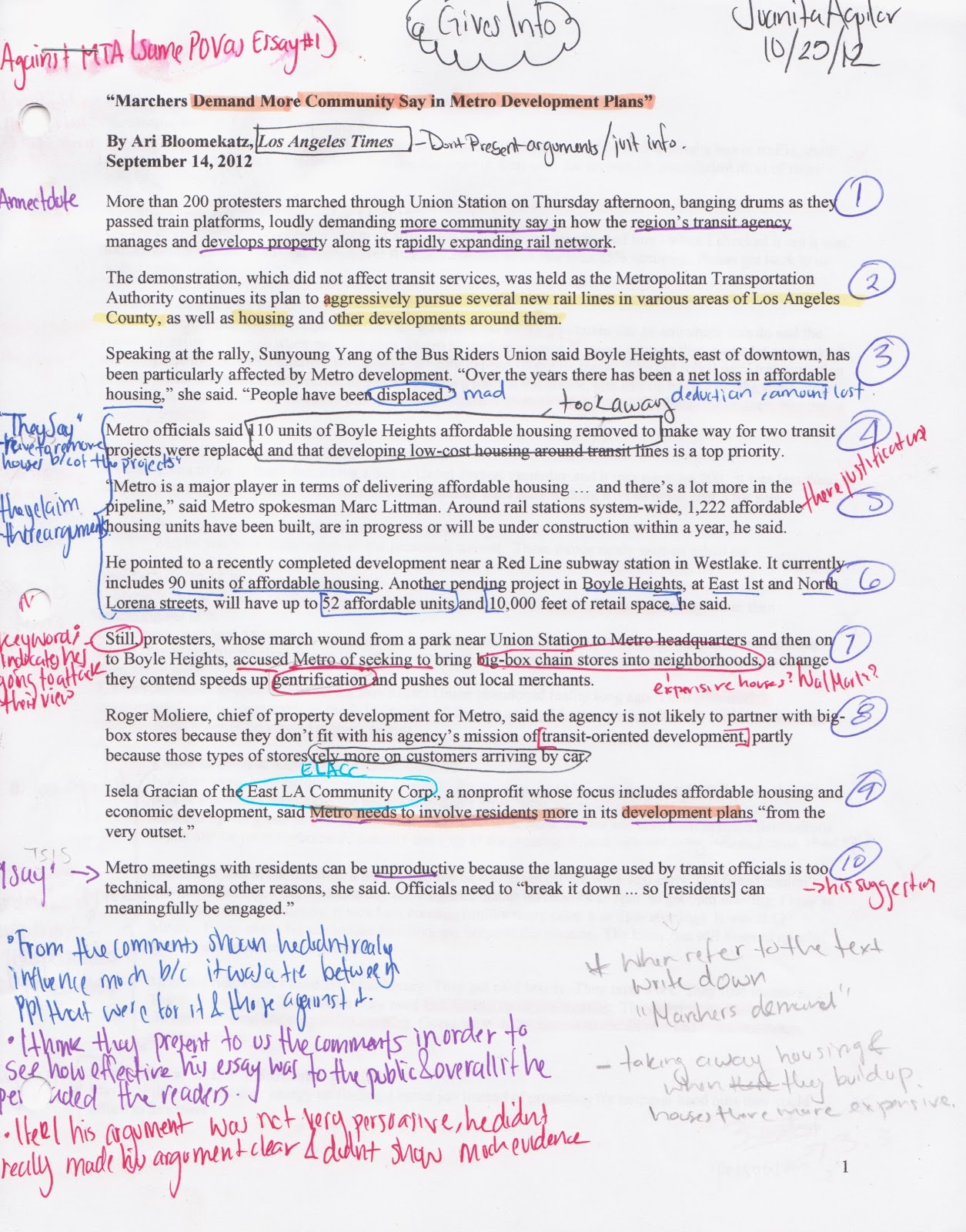 writing annotation examples