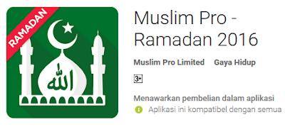 Donwload Muslim Pro Ramadan 2016