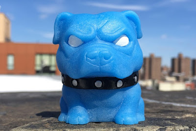 Tenacious Toys Pitbull Mascot Danger Blue Edition Resin Figure by NEMO x Dead Hand Toys x Playful Gorilla