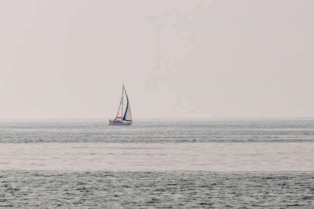 Photo of yacht Paladin in the mist on the Solway Firth