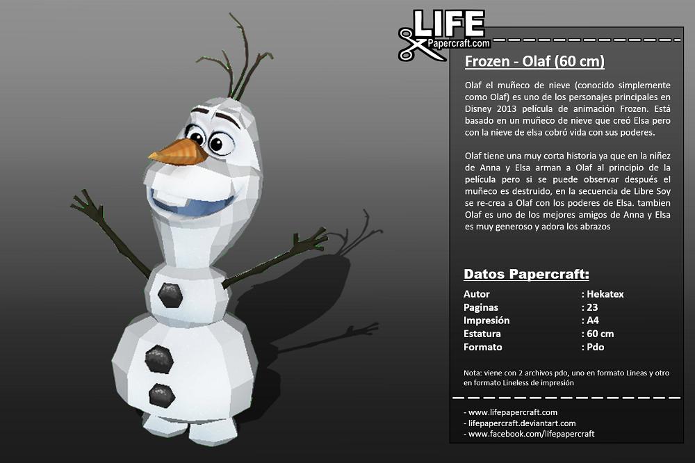 Frozen Olaf - 0,60 mts