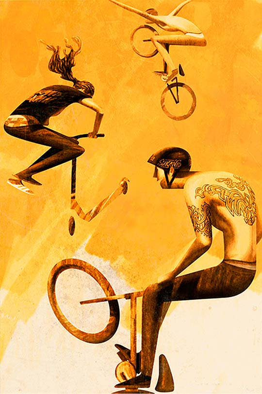 Boys, Tattoos and Wheels... de Sukanto Debnath