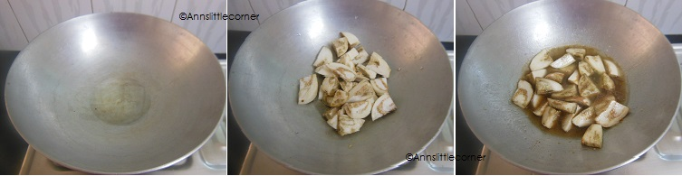 How to make Muslim Style Brinjal Sambar - Step 4