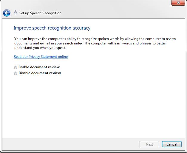 Tech Talk : How to set up Windows Speech Recognition?