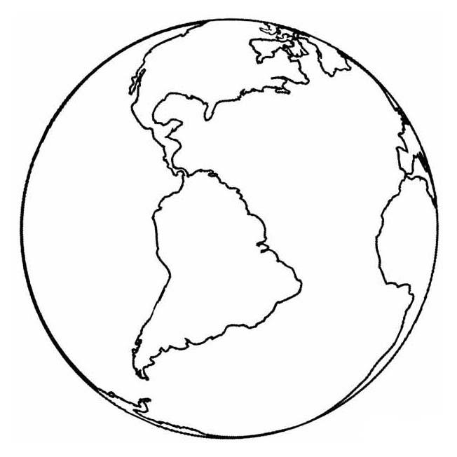 Desenhos Do Planeta Terra Para Pintar Colorir Imprimir Espaco
