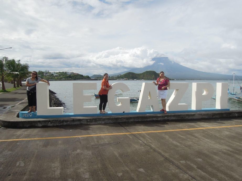 View of Mayon Volcano from Albay Gulf