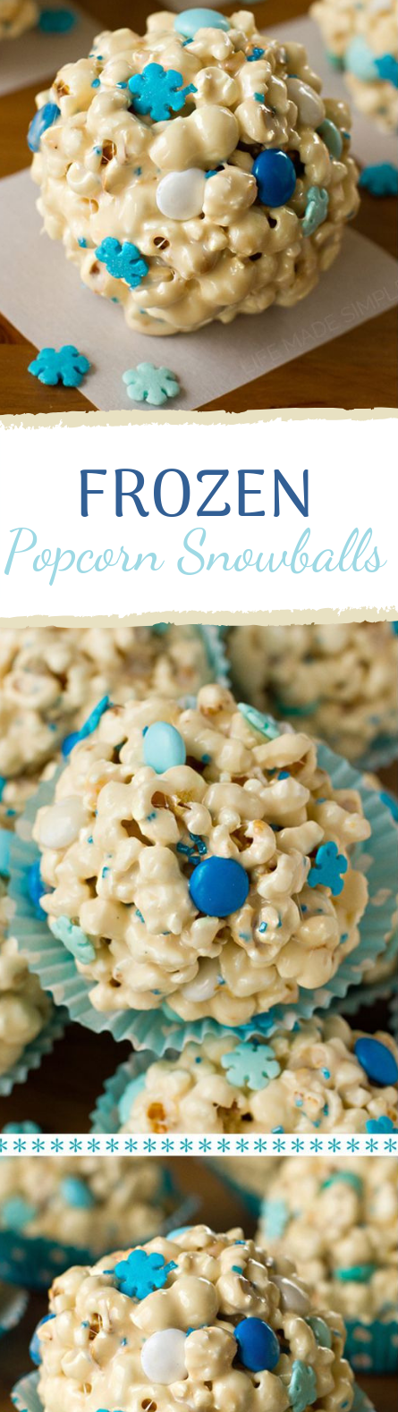 Popcorn Snowballs #party #desserts