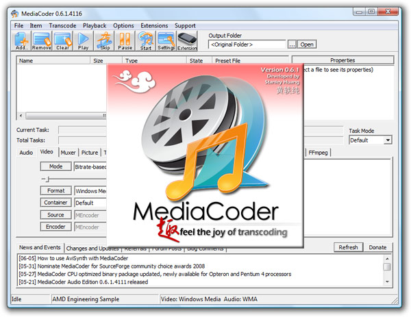 mediacoder best open source media transcoder