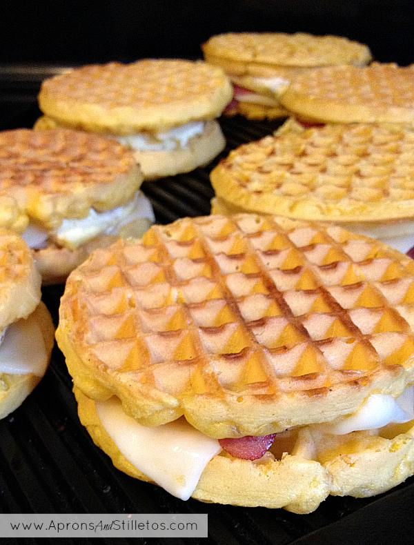 Breakfast On the Go Waffle Sandwiches
