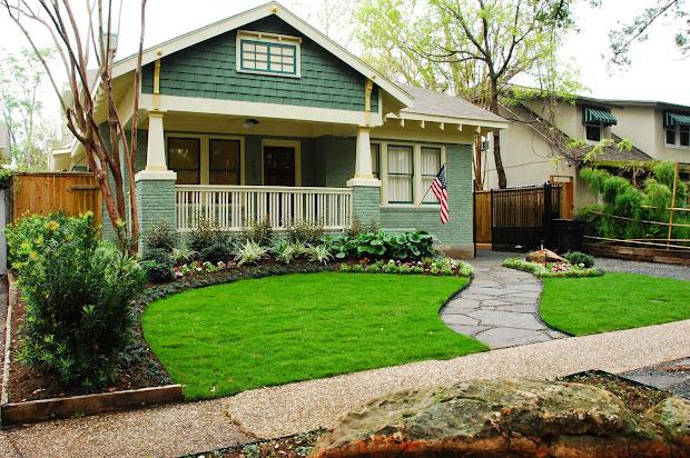 modern small front yard landscape