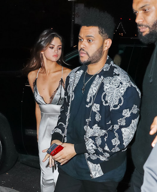Braless Selena Gomez wears a sexy dress at Rao's Restaurant in NYC