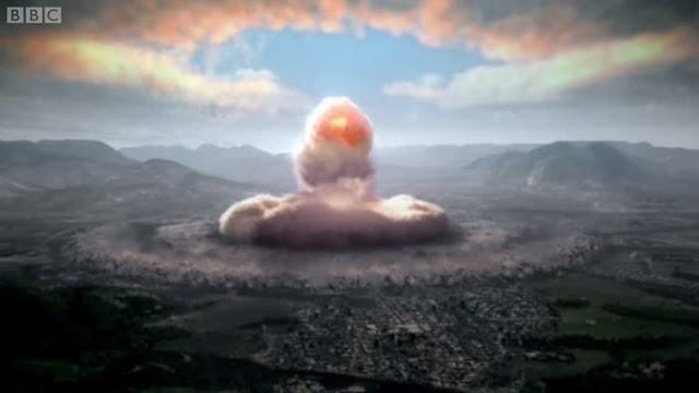 www.fertilmente.com.br - Reprodução do ataque atômico a Hiroshima, o mais destrutivo dos dois ataques nucleares efetuados ao Japão