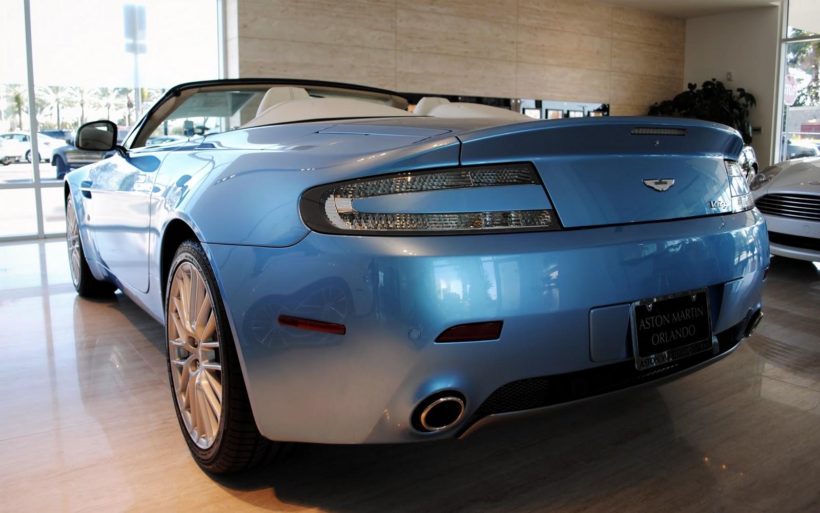 Blue Aston Martin Vantage Orlando Cabrio Wallpapers