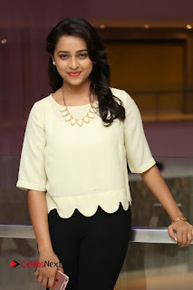Actress Sri Divya Pictures in Jeans at Rayudu Movie Team Interview  0024
