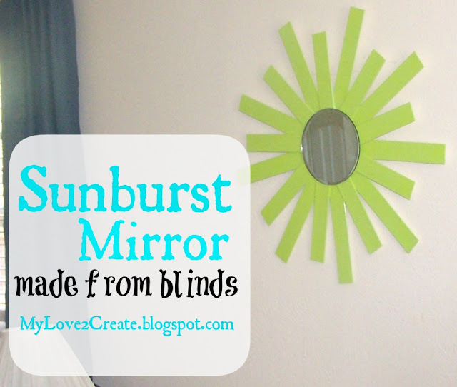 How to make a sunburst mirror from old blinds, MyLove2Create