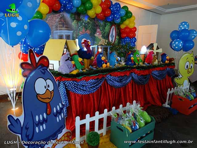 Decoração infantil Galinha Pintadinha - Mesa de aniversário
