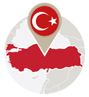 Turkish flag and map