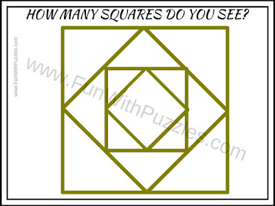 Picture Puzzle to count number of squares
