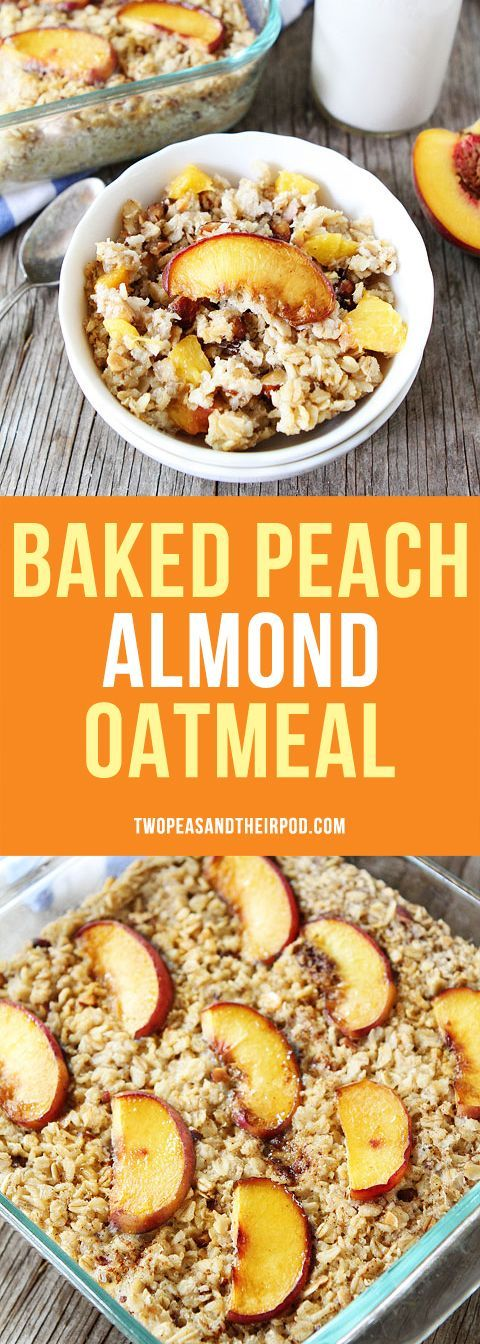 Baked Peach Almond Oatmeal