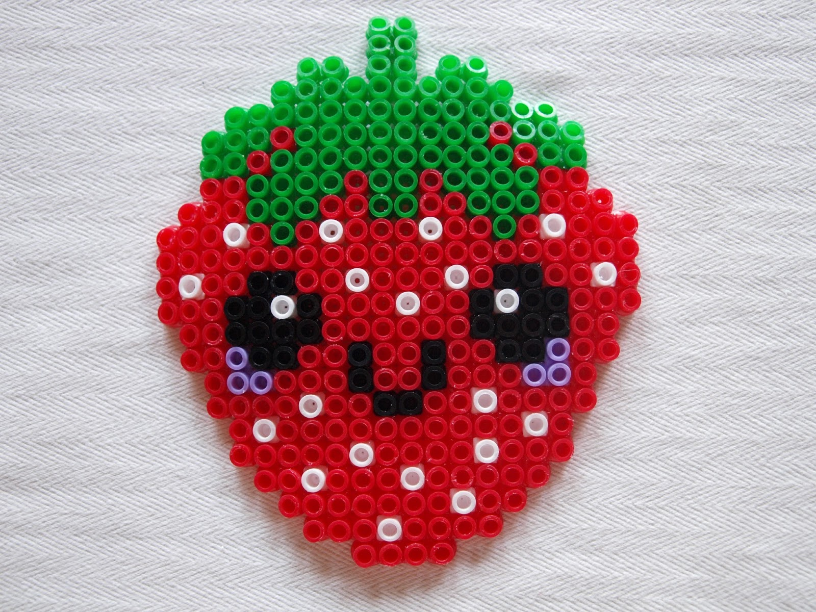 Bugelperlen Vorlage Erdbeere Kiki Die Kinderkiste