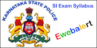 Karnataka Police SI Exam Syllabus