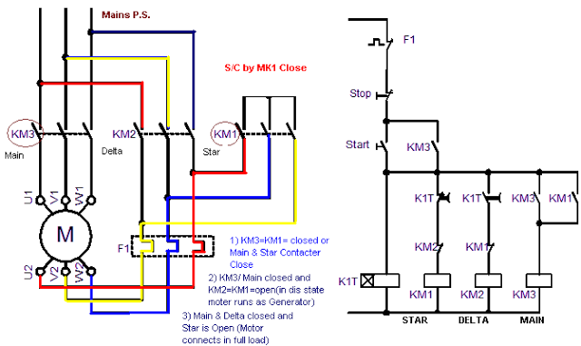 Star Delta Starter Simple Circuit Diagram 110
