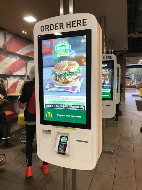 new style kiosk at McDonalds