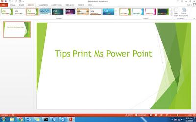 Cara Mudah Print di Ms Power Point dan Tipsnya