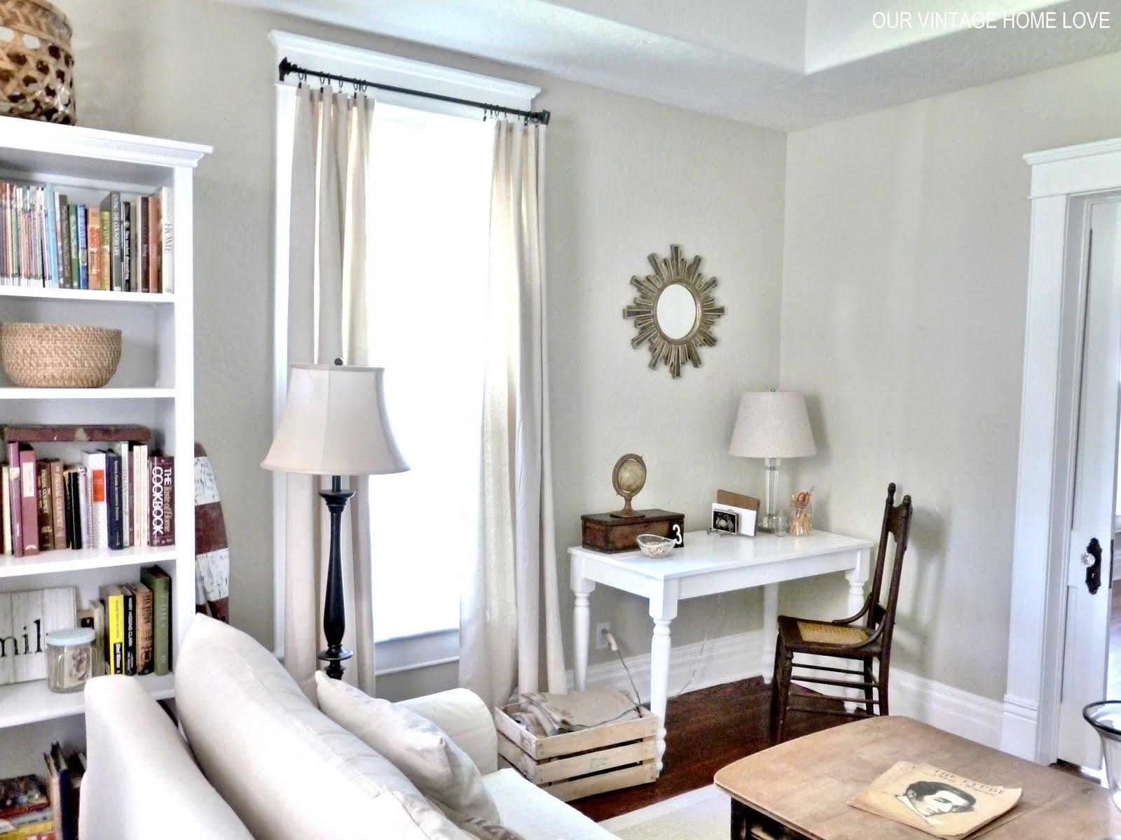 lovely living room desk | vintage home love: Desk for Master Bedroom and a Vintage ...