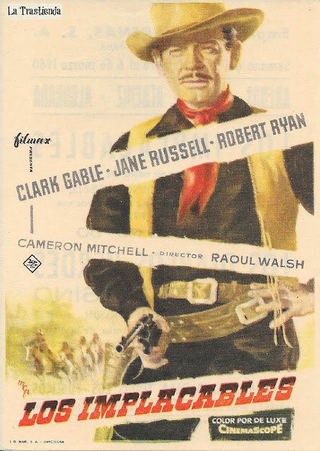 Los Implacables - Programa de Cine - Clark Gable - Jane Russell