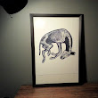 "Horseflesh Productions: ""Donkey"" Collagraph Print"
