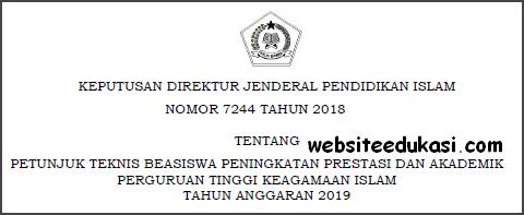 Juknis Beasiswa Prestasi dan Akademik PTKI Tahun 2019