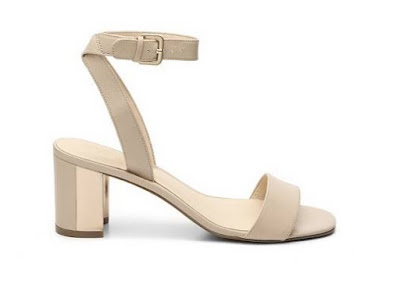 Nine West Neutral Low Block Heel Sandals