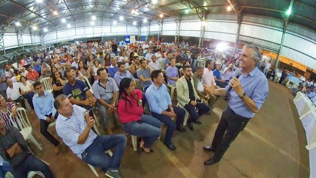 """Em Orizona Caiado diz que """"Goiás espera unidade da oposição para vencer"""""""