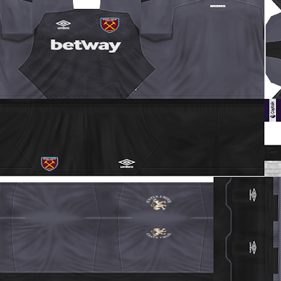 PES 6 Kits West Ham United Season 2018/2019 by Dibu Edition