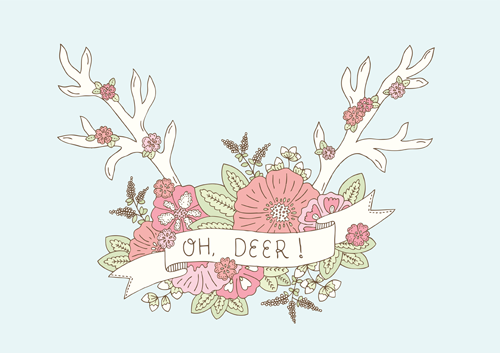 Emma Margaret Illustration Oh Deer Antlers 2016