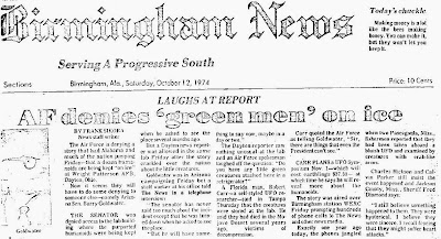 AF Denies 'Green-Men' On Ice - Birmingham News 10-12-1974
