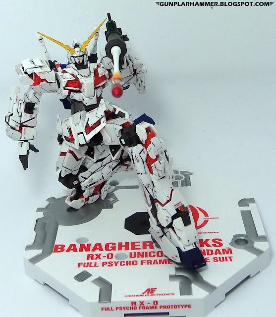 RG 1/144 Unicorn Gundam Destroy RX-0 Realgrade no paint Bazooka