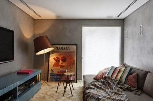 Salas decoradas con paredes de concreto salas con estilo for Sala oscura wabbit