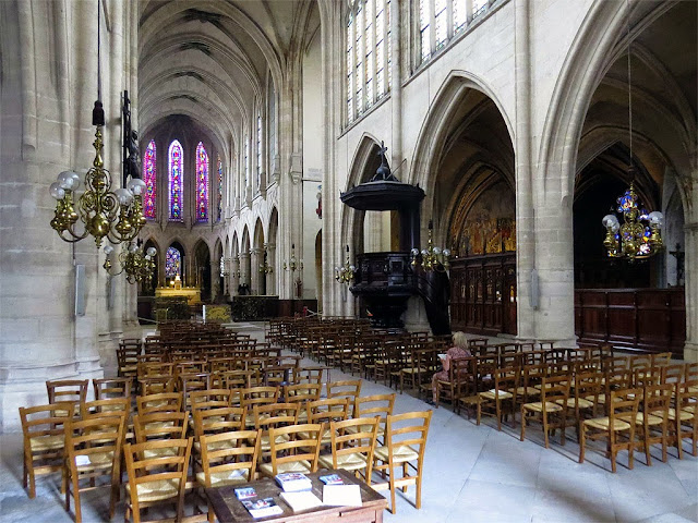 Interior of the church of Saint-Germain l'Auxerrois, Paris