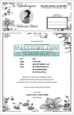 undangan walimatul hamli yang bisa di edit