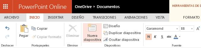 Agregar Nueva Diapositiva