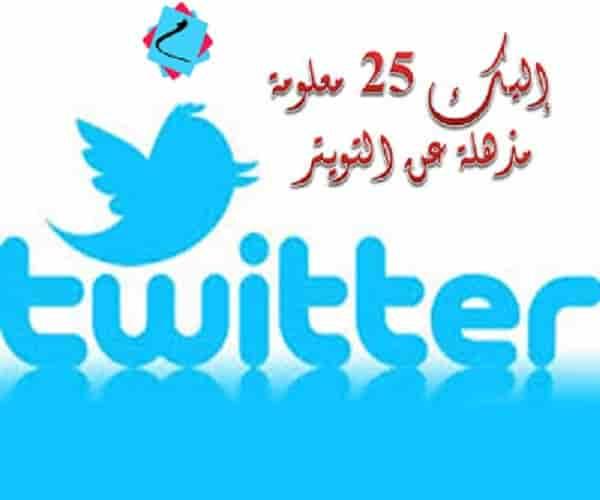إليك 25 معلومة مذهلة عن التويتر !