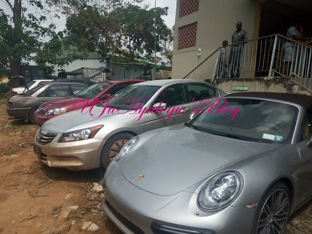 See the Porsche Convertible Worth N89million Intercepted By Nigeria Customs (Photo)