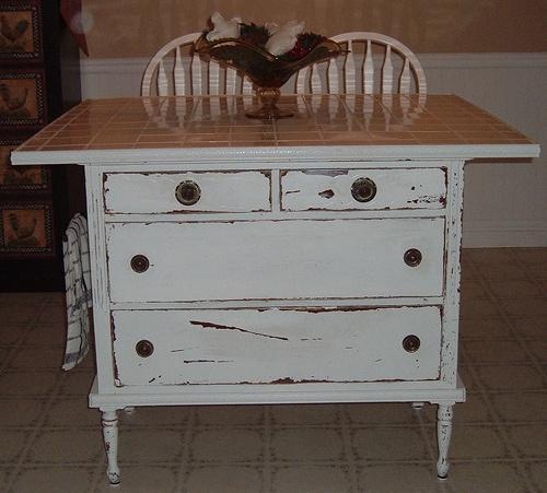 Repurposed Antique Dresser As A Kitchen Island With A: One Vintage Lane: Kitchen Island Ideas! RePurpose & ReInvent
