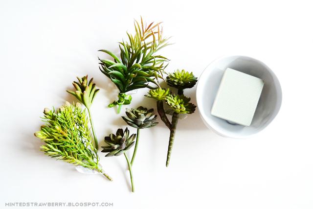 fake succulent floral foam